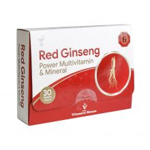 قرص ردجینسینگ پاورمولتی ویتامین و مینرال Red Ginseng ویتامین هاوس ۳۰عددی