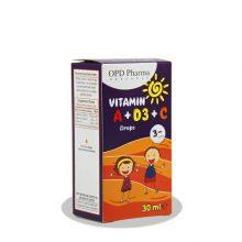 قطره ویتامین Vitamin A+D3+C او پی دی فارما 30ml