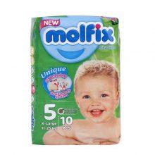پوشک سایز ۵ (۱۱ تا ۲۵ کیلوگرم) Baby Diaper مولفیکس 10 عددی