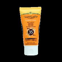 کرم ضد آفتاب رنگی SPF35 فاقد چربی  سان سیف ۵۰ml