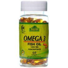 سافت ژل امگا-3 Omega3 آلفا ویتامینز 60 عددی