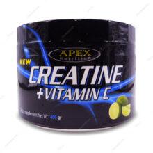 پودر کراتین+ویتامین ث Creatine+Vitamin C لیمو اپکس 400g