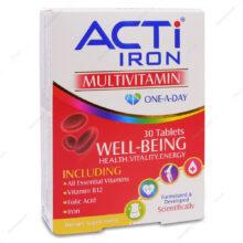 قرص مولتی ویتامین اکتی آیرون ACTi IRON لیبرتی 30 عددی