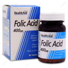 قرص فولیک اسید ۴۰۰ میکروگرم Folic Acid هلث اید ۹۰ عددی