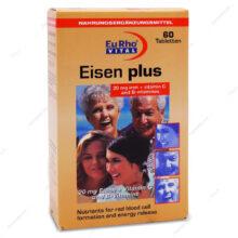 قرص آیزن پلاس Eisen Plus یوروویتال 60 عددی