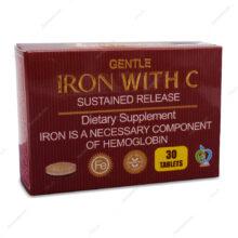 قرص پیوسته رهش آهن و ویتامین ث Gentle Iron برونسون 30 عددی