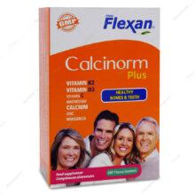 قرص کلسی نورم پلاس Calcinorm Plus فیشر فلکسان 60 عددی