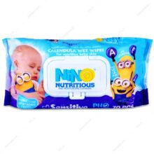 دستمال مرطوب کودک نینو حاوی کالاندولا ۷۰ عددی
