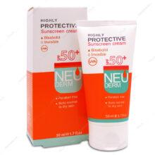 کرم ضد آفتاب پوست معمولی و خشک SPF50 نئودرم 50ml