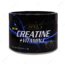 پودر کراتین+ویتامین ث Creatine+Vitamin C تمشک اپکس 400g