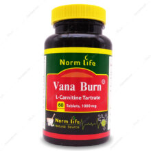 قرص ال کارنیتین تارترات وانا برن Vana Burn 1000 نورم لایف 60 عددی
