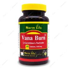 قرص وانا برن ال کارنیتین Vana Burn 500 نورم لایف 60 عددی