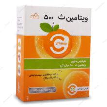 قرص ویتامین ث جویدنی 500 Vitamin C پرتقالی ایران دارو 30 عددی