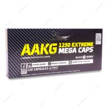 کپسول ای ای کی جی اکستریم 1250 مگا کپس AAKG الیمپ 120 عددی
