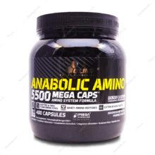 کپسول آنابولیک آمینو 5500 مگا کپس ANABOLIC AMINO الیمپ 400 عددی