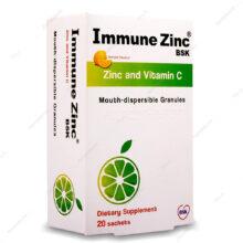ساشه ایمیون زینک Immune Zink لیمویی بی اس کی 20 عددی