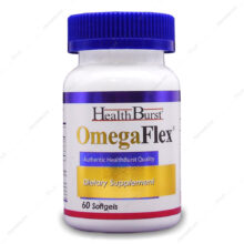 سافت ژل امگا فلکس Omega Flex 1000mg هلث برست 60 عددی