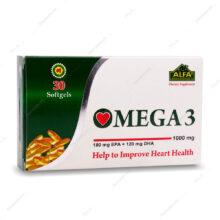سافت ژل امگا 3 OMEGA 3 1000 mg آلفا ویتامینز 30 عددی