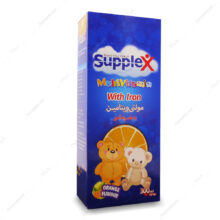 شربت مولتی ویتامین + آهن Multivitamin پرتقالی ساپلکس 300ml