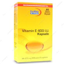 کپسول ژلاتینی ویتامین ایی Vitamin E 400IU یوروویتال 60 عددی