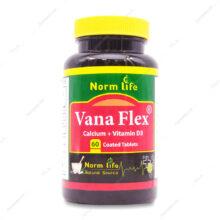 قرص وانا فلکس کلسیم پلاس د3 Vana Flex نورم لایف 60 عددی