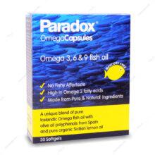 کپسول ژلاتینی امگا Omega 3 6 9 پارادوکس 30 عددی