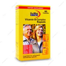 کپسول ژلاتینی ب-کمپلکس Vitamin B-Complex یوروویتال 60 عددی