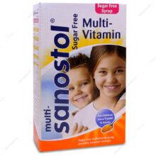 شربت مولتی سانستول Multi-Vitamin بدون قند 155ml
