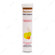 قرص جوشان مولتی ویتامین Multi Vitamin لیمویی برونسون 20 عددی