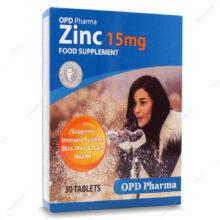 قرص زینک Zinc 15 او پی دی فارما 30 عددی