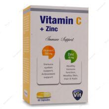 کپسول ویتامین ث زینک Vitamin C Zinc استار ویت 60 عددی