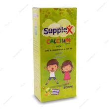 شربت کلسیم calcium پرتقالی ساپلکس 300ml
