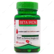 کپسول بتا آیرون BETA IRON سیروان تجارت کیمیا 30 عددی