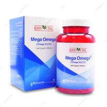 کپسول مگا امگا Mega Omega 1000mg باری ویتال 6۰ عددی