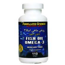 سافت ژل روغن ماهی امگا3 OMEGA-3 بدون جیوه فرمولیتد ساینسز 110 عددی