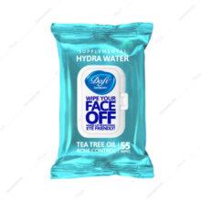 دستمال پاک کننده آرایش هیدراواتر HYDRA WATER دافی 55 عددی