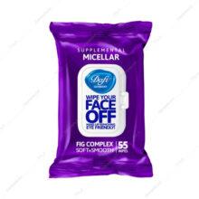 دستمال پاک کننده آرایش میسلار MICELLAR دافی 55 عددی