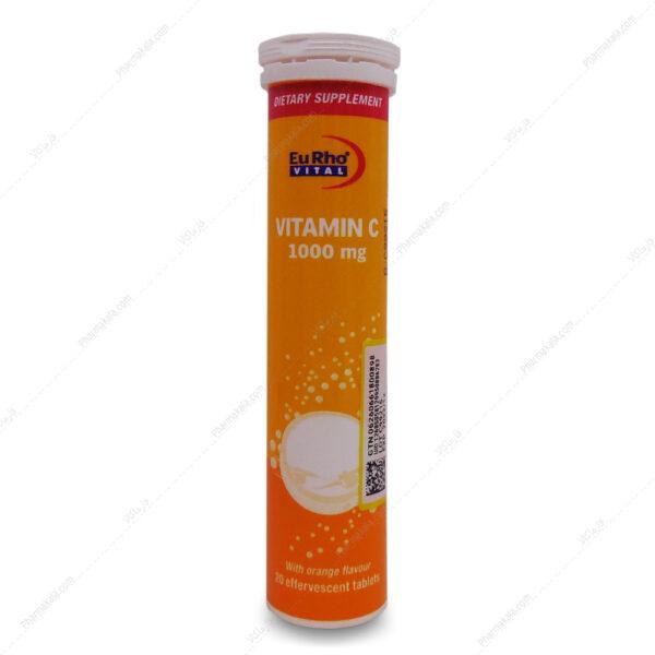 قرص جوشان ویتامین ث 1000 Vitamin C یوروویتال