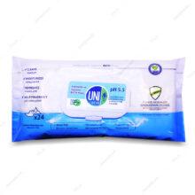 دستمال مرطوب آنتی باکتریال حمام UNI MED یونی مد 24 عددی