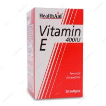 کپسول ویتامین ایی 400 واحدی Vitamin E هلث اید 30 عددی