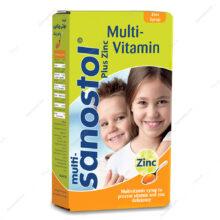 شربت مولتی سانستول زینک Multi sanostol+zinc حجم 155ml