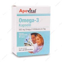 کپسول نرم ژلاتینی امگا 3-Omega آپوویتال 30 عددی