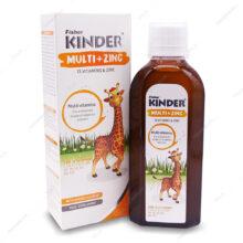 شربت مولتی ویتامین + زینک Multi+Zinc فیشر کیندر 200ml