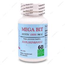کپسول بیوتین مگا بیت MEGA BIT 10000 برونسون 60 عددی