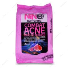 دستمال آرایش پاک کن ضد جوش Combat Acne نینو 27 عددی
