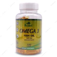 سافت ژل امگا-3 Omega3 آلفا ویتامینز 100 عددی
