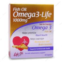 کپسول امگا3 لایف Omega3 Life لایف آن 30 عددی