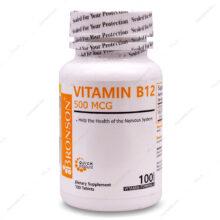 قرص ویتامین ب12 Vitamin B12 500mcg برونسون 100 عددی
