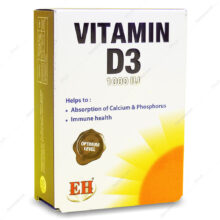 کپسول ویتامین د3 VIT D3 1000IU فیشر 60 عددی