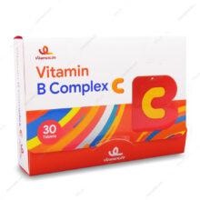 قرص ویتامین ب کمپلکس سی ویتامین لایف 30 عددی